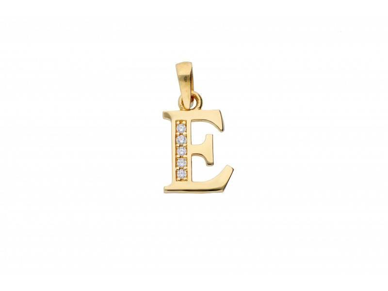 Pandant initiala aur  14k litera E