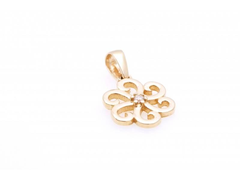 Bijuterii din aur - Pandantive din aur 14K galben floricica