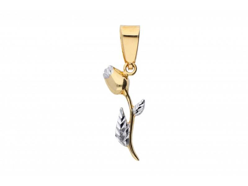 Pandantiv aur 14K floricica