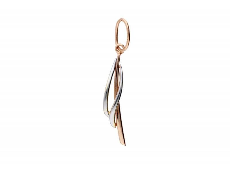 Bijuterii aur - Medalion dama din aur 14K alb si roz