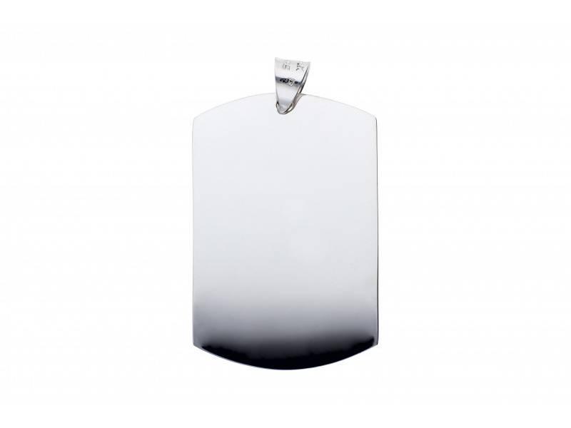 Pandantiv aur alb 14K placuta gravabila