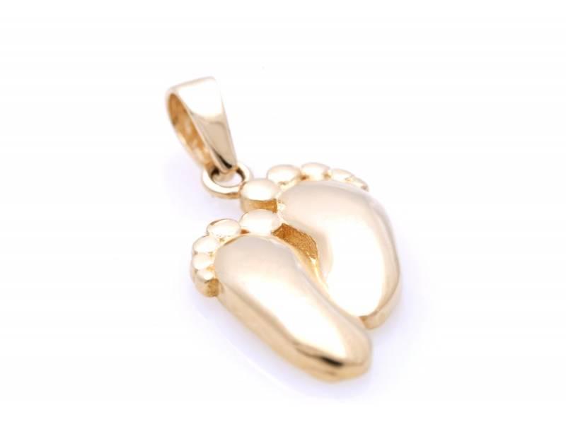 Bijuterii aur online - Pandant dama aur 14K galben picioruse