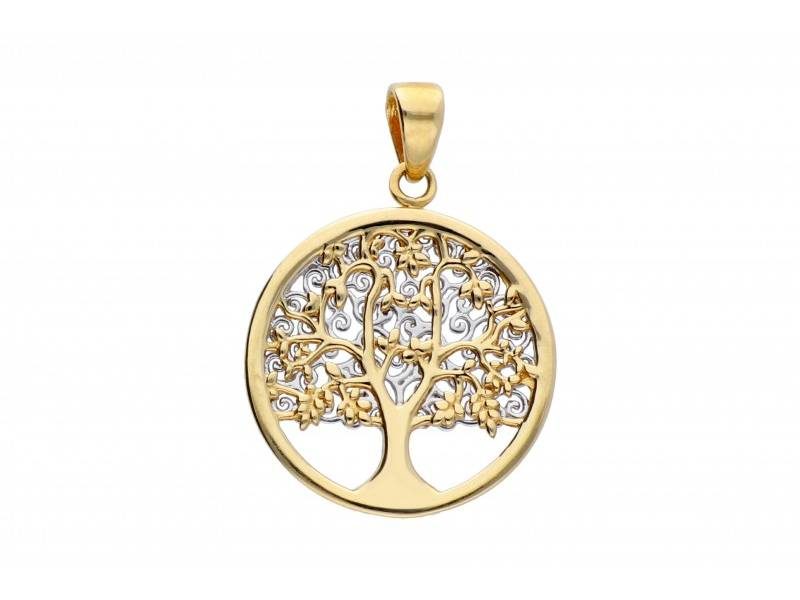 Medalioane dama aur 14K galben POMUL VIETII