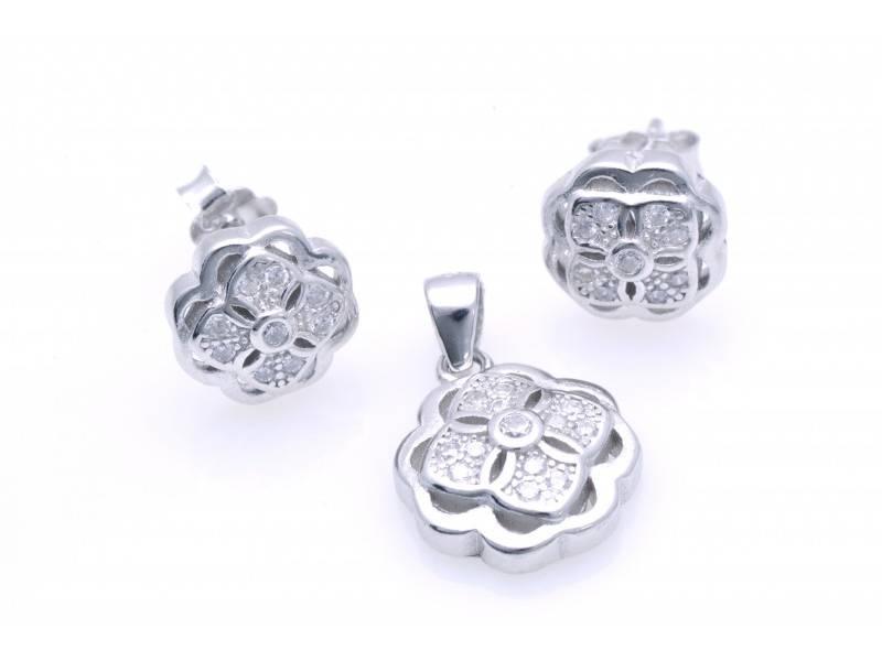 Set argint 925 cercei si pandant