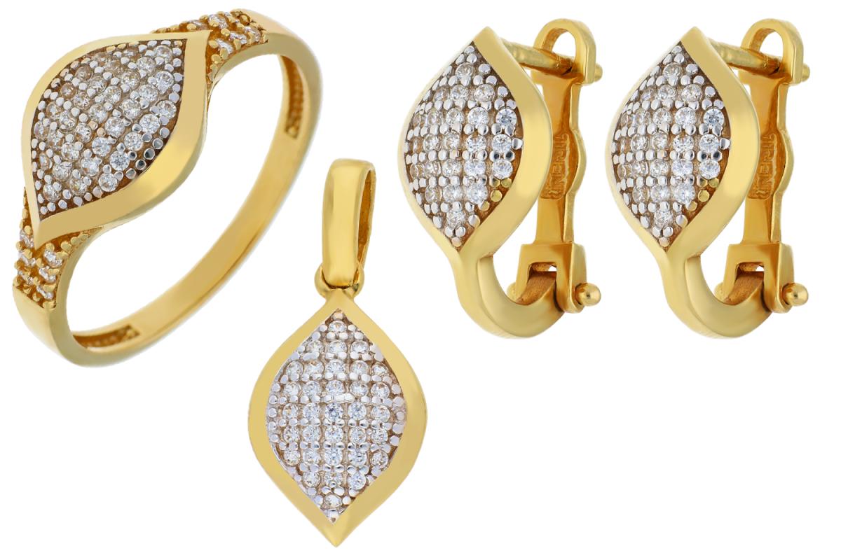 Set aur 14k bijuterii zirconia
