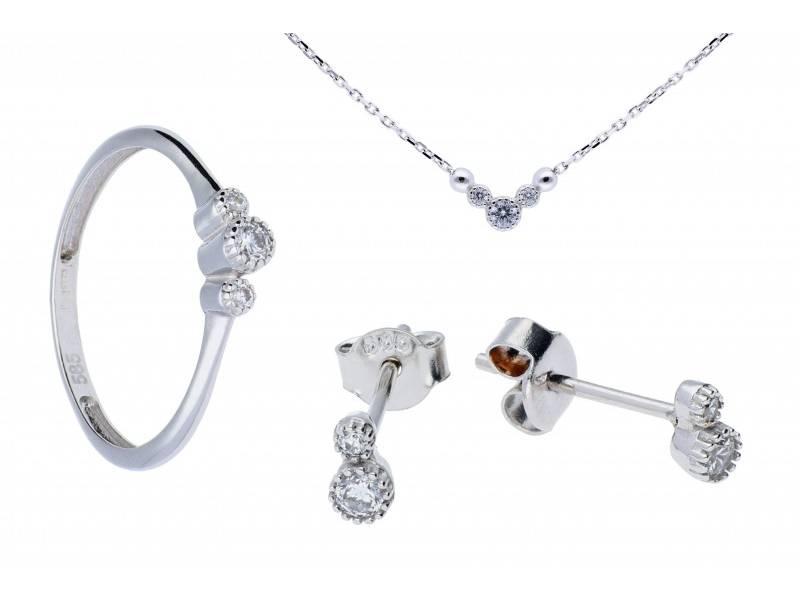 Set aur inel,cercei,lant cu zirconii cadouri bijuterii deosebite