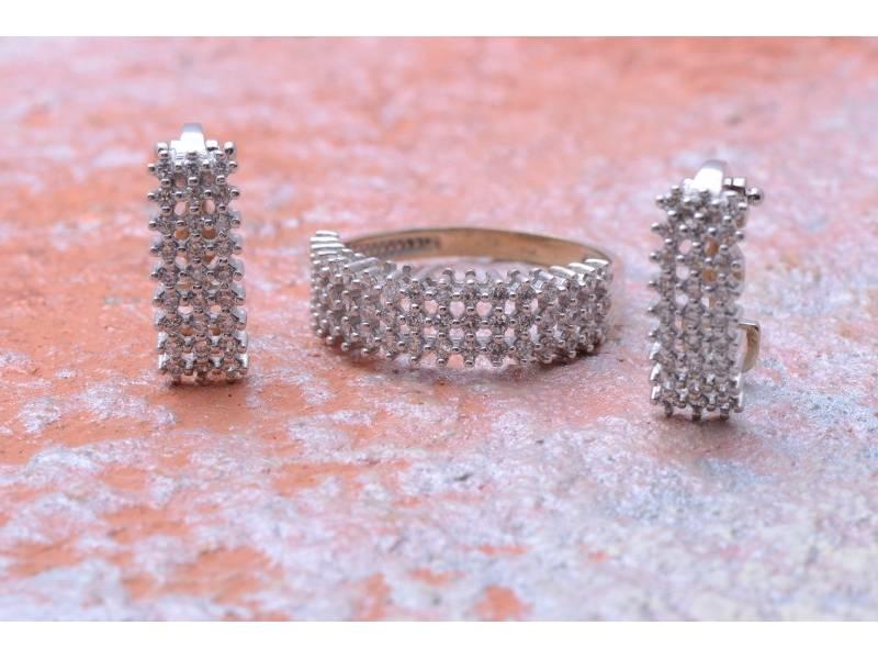 Set bijuterii aur 14K cercei inel