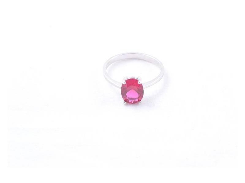 Set bijuterii aur inel cercei pandant cu zirconia rosu