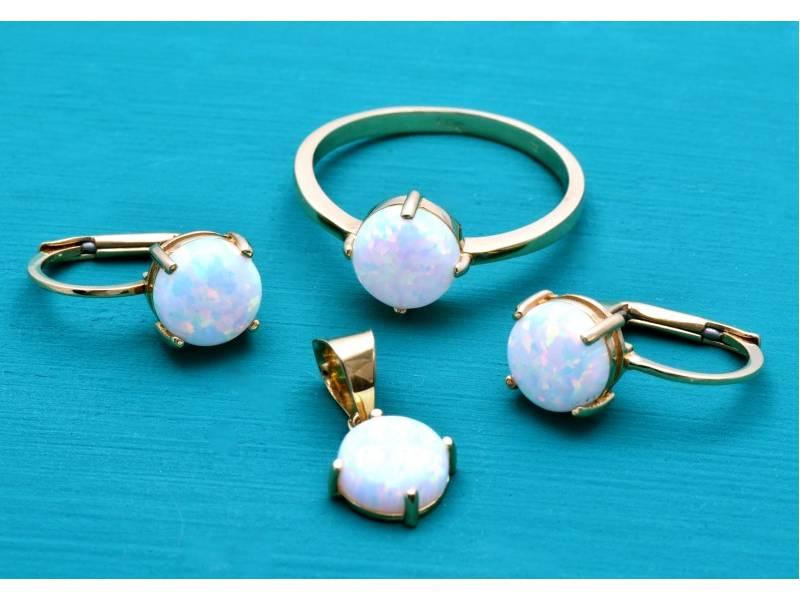Set bijuterii cu opal aur 14K