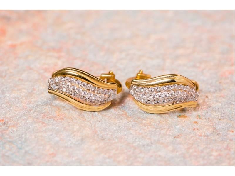 Set cercei inel pandant bijuterii aur 14K