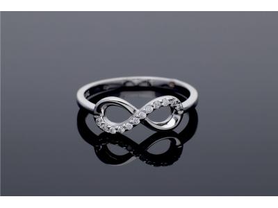 Bijuterii argint inel infinit