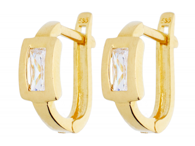 Bijuterii aur 14K cercei cu zirconii