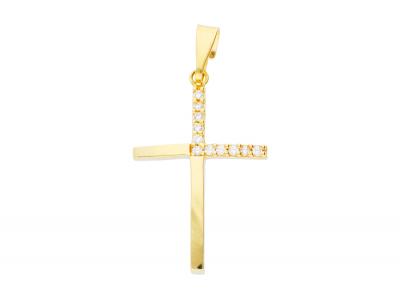 Bijuterii aur 14k medalion cruciulita