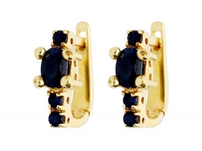 Bijuterii aur cercei cu zirconia color
