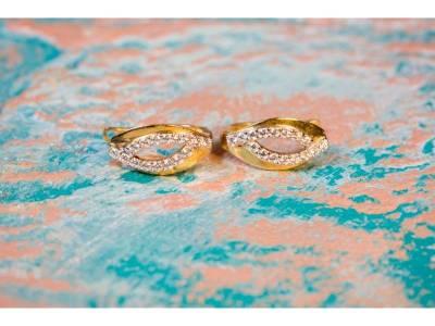 Bijuterii aur cercei dama cu zirconia
