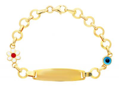 Bijuterii aur cu placuta pentru copii