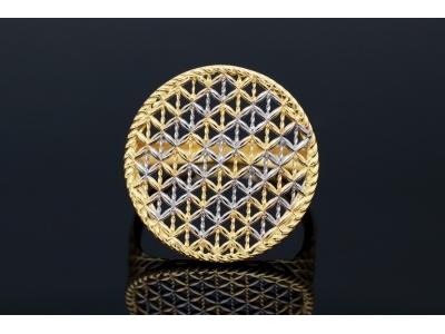 Bijuterii aur online - Inele dama din aur 14K galben si alb