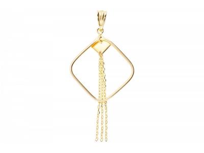 Bijuterii aur pandantiv cu lant