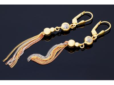 Bijuterii cadou cercei aur 14k cu pandant