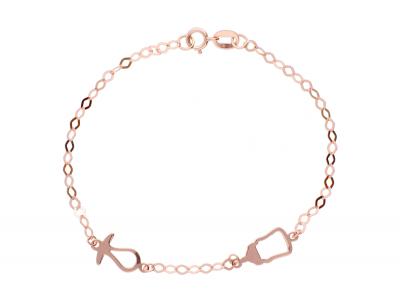 Bijuterii copii bratara aur roz pandantive suzeta biberon
