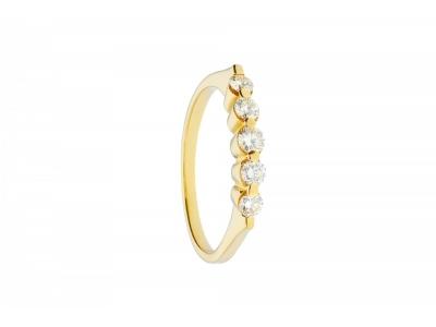 Bijuterii cu diamante inel aur 14k
