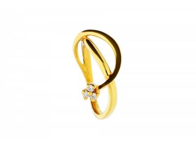 Bijuterii cu diamante inel aur 18k