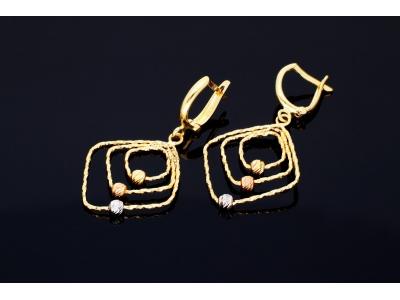 Bijuterii dama cercei aur 14k model geometric