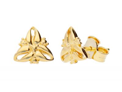 Bijuterii dama din aur 14K cercei cu surub
