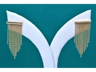 Bijuterii din aur 14k cercei surub