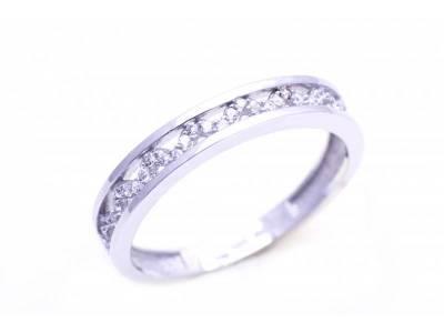 Bijuterii din aur alb 14k inel tip verigheta