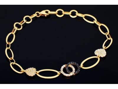 Bratara aur 14K bijuterii dama inimioare Coco