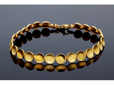 Bratara aur galben 14K bijuterii dama