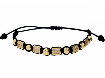 Bratara cu snur negru cadouri bijuterii aur