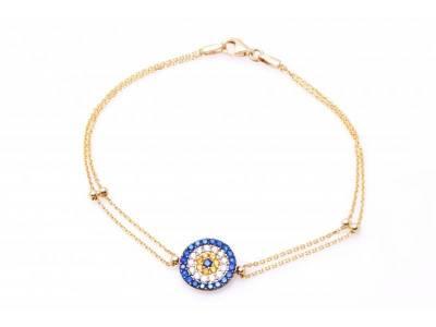 Bratara dama ochi de deochi bijuterii aur 14K
