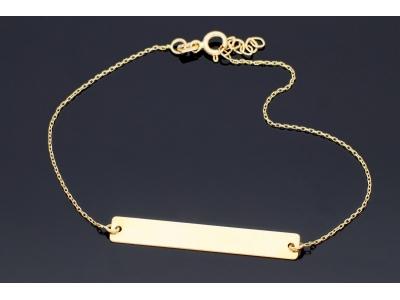 Bratara dama bijuterii aur cadou cu placuta