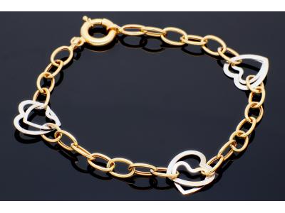 Bratara dama cadou bijuterii aur inimioara