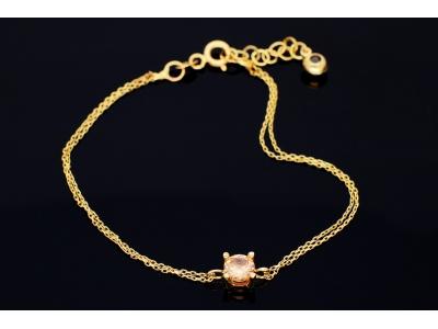 Bratara din aur 14K bijuterii dama zirconia citrin