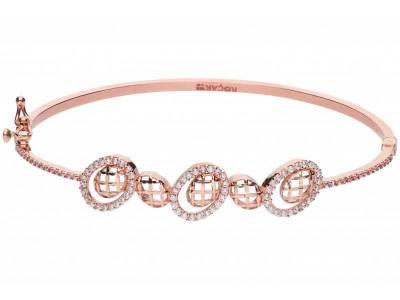 Bratara fixa bijuterii aur roz