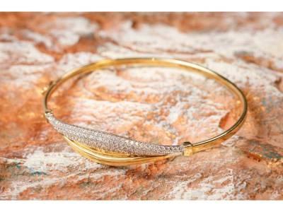 Bratara fixa dama bijuterii aur cu zirconii