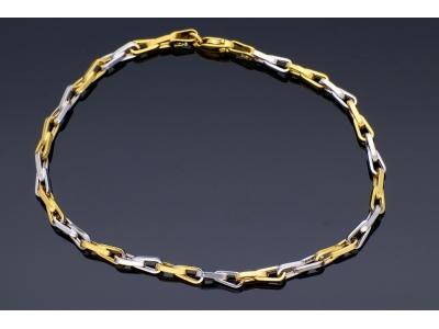 Bratara mobila aur 14K galben si alb