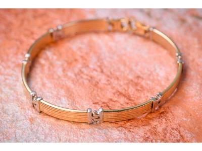 Bratara semi mobila bijuterii aur barbatesti