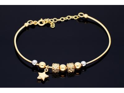 Bratari din aur 14K bijuterii dama charm steluta