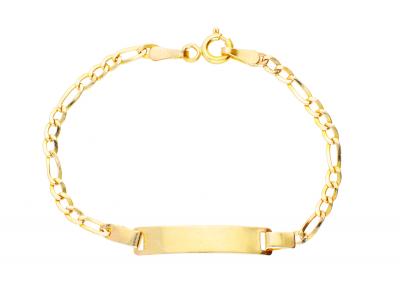 Cadou bijuterii bratara copii aur 14k gravabila