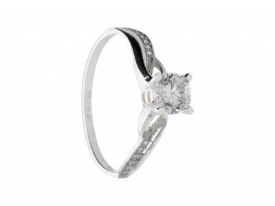 Cadouri bijuterii inel de logodna aur alb