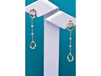 Cercei aur 14 k bijuterii