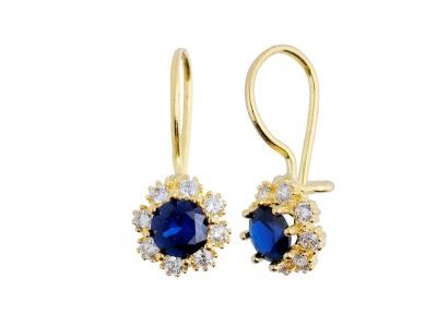 Cercei aur 14k bijuterii cadou pietre colorate