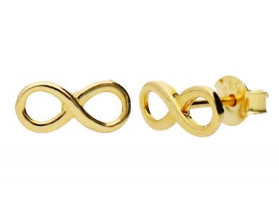 Cercei aur 14K bijuterii cadouri infinit
