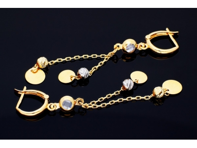 Cercei aur 14k bijuterii banuti