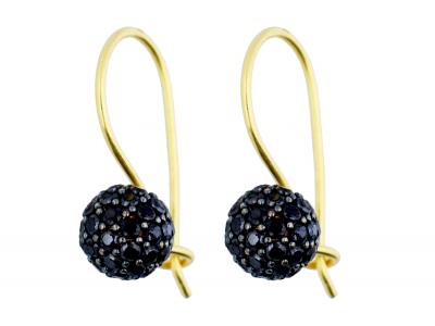 Cercei aur 14k bijuterii dama biluta zirconia