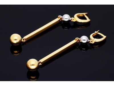 Cercei aur 14K bijuterii dama bilute